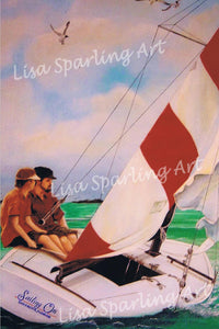 """Sailing"" Acrylic Lisa Sparling Original Commission Piece"
