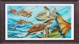 """Sea Turtle Tango"" Lisa Sparling Art Giclée Reproduction"