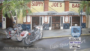"""Sloppy Joes"" Acrylic Lisa Sparling Originals Commission Piece"
