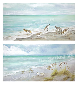 """Surfside Dining"" & ""Morning Run"" Set of Giclée Reproductions"