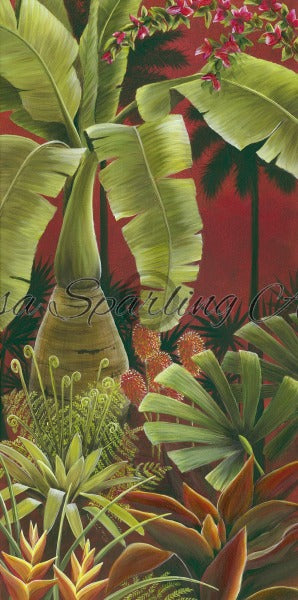 Tropical Evening I Giclée Reproduction Lisa Sparling Art, tropical, wall art, home decor