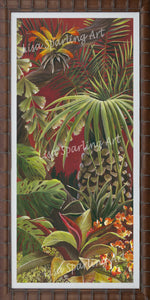 """Tropical Evening"" Pair Acrylic Lisa Sparling Originals"