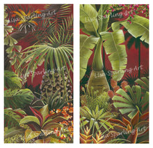 """Tropical Evening"" Pair of Giclée Reproductions"