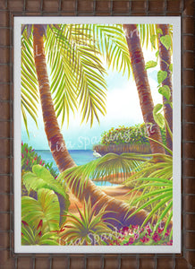 """Tropical Lagoon II"" Giclée Reprduction"