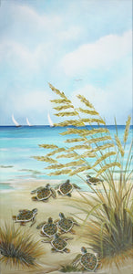 """Turtle March I"" Lisa Sparling Art Giclée Reproduction"