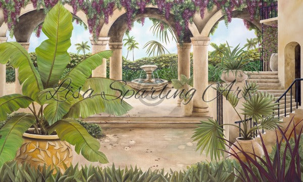 Tuscan Courtyard Giclée Reproduction Giclee Reproductions