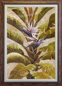 """White Bird of Paradise"" Acrylic Lisa Sparling Original"