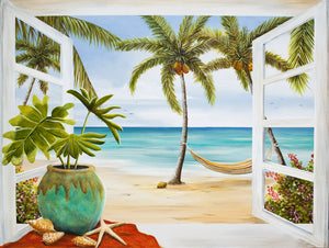 """Window to Paradise"" Acrylic Lisa Sparling Original"