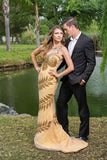 Embellished - Sleeveless hand beaded Silk Georgette Gown