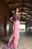 VA 7749 - Embellished - Sleeveless hand beaded Crepe Gown