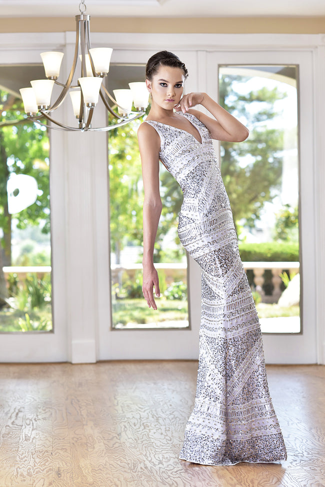 Embellished - Sleeveless hand beaded Gown