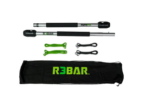 R3bar Alpha Pro + Black Beginner Bands + Green Intermediate Bands +  R3BAR Travel Bag