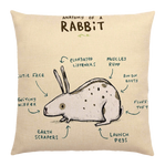 Rabbit Anatomy Pillow Cover