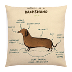 Dachshund Anatomy Pillow Cover