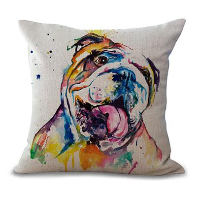 English Bulldog Art Pillow Cover