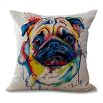 Pug Art Pillow Cover