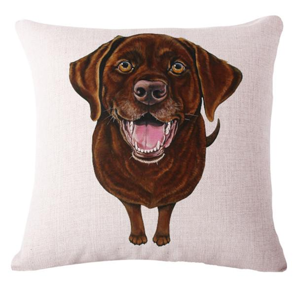 Chocolate Labrador Pillow Cover
