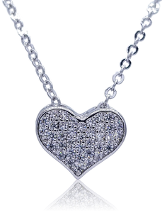 COLLAR CORAZON PAVE