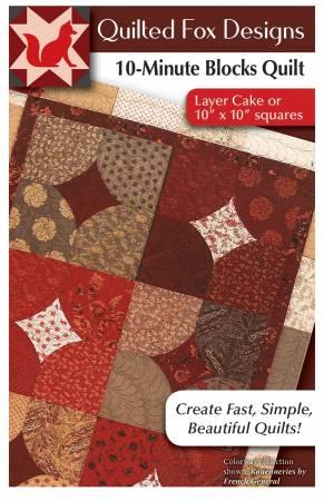 10-Minute Blocks Quilt Quilted  Fox Designes DO08186