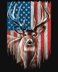 #104WL Patriotic Deer ML31340C1