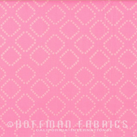 Hoffman Fabrics  Dotty Diamonds Bubblegum