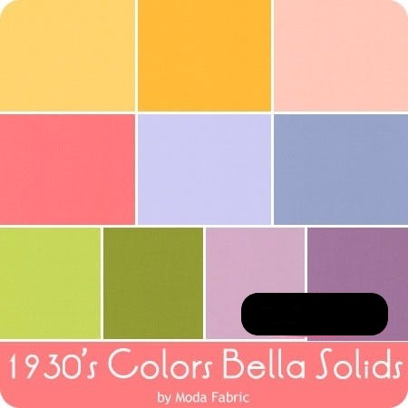 Bella Solids Jelly Roll Rainbow 9900JR-23