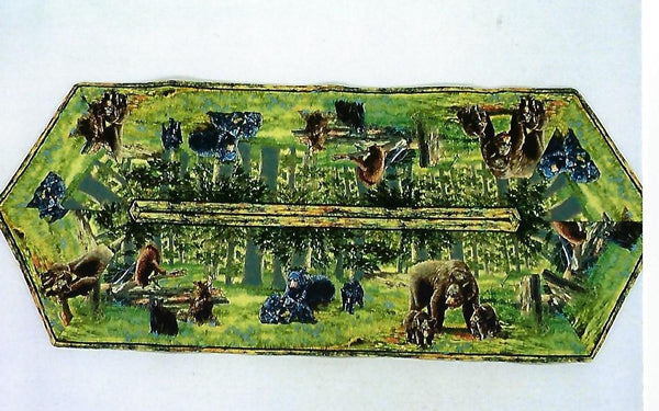 Bear Table Runner 38""