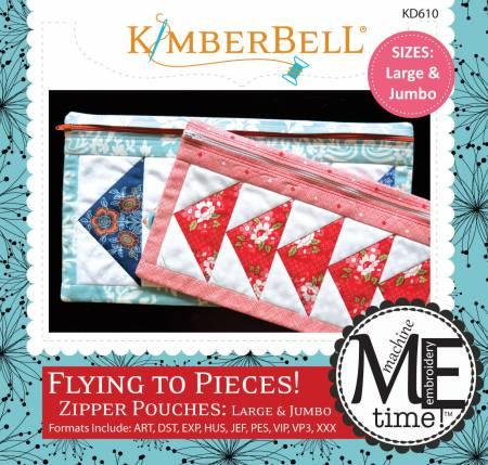 CD Flying to Pieces Lg/Jumb Zipper Pouch KD610