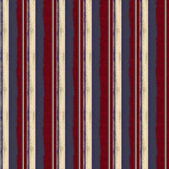 ClothWork Land That I Love Stripes Y2415-83 Dark Red