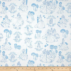 Camelot - Disney Princess - Toile 85100112 02 Blue