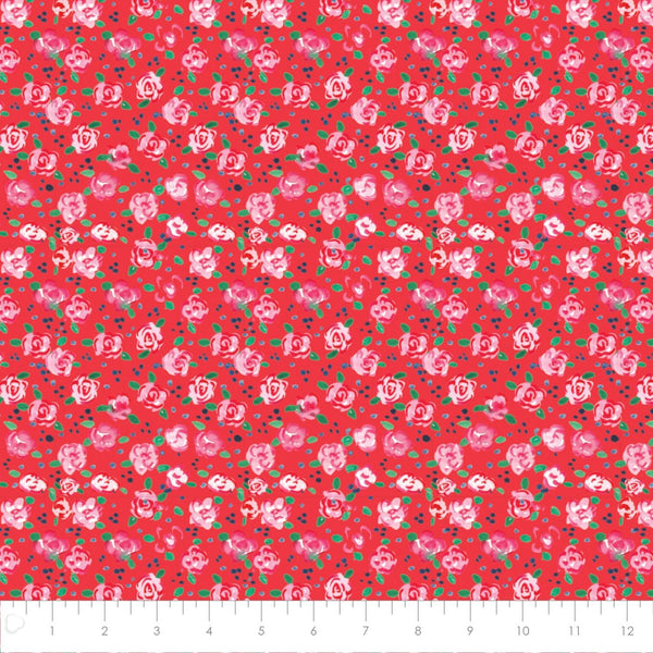 Camelot Fabric City Girl Flower Market Red 26180105J 02 RED