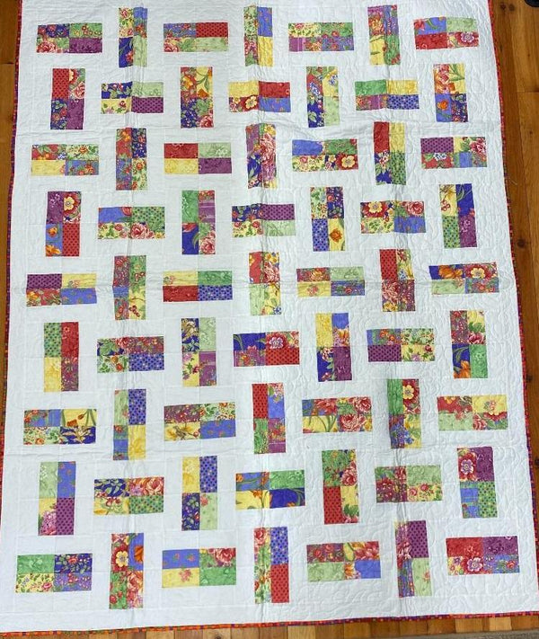 Chunky Block Finished Quilt 58x74