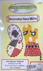 Decorative Oven Mitts  The Apron Lady Designs TALA511
