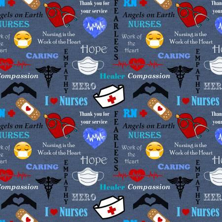 Denim Nurse Hero Allover 10321-X