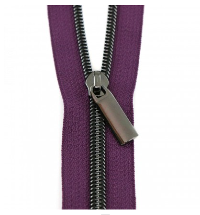 "EE Zipper Purple 108"" 3Yds Zipper & 9 Pulls ZBY5C40"