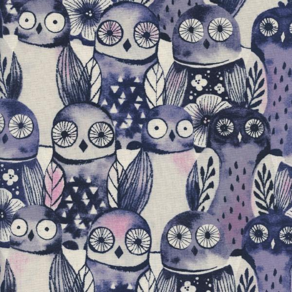 Eclipse Wise Owl Cotton Blue C5195-001