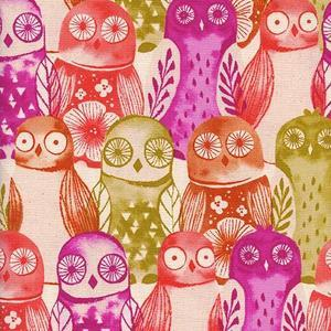 Firelight Wise Owl Cotton Pink C5178-001