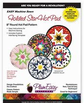Folded Star Hot Pad Plum Easy Patterns