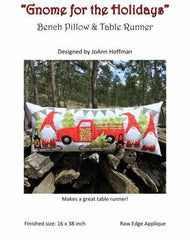 Gnome for the Holidays Bench Pillow PST-140