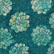 HF Bali Batik Succulents Teal MR12 21
