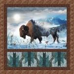 "HF Buffalo Home On The Range 50"" x 50"""