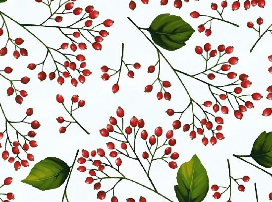 Hoffman Fabrics Poinsettia Song Frost/Silver