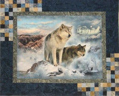 "HF Wolf Highlights Kit 46.5"" X 56.5"" Finished Fabrics May Vary"