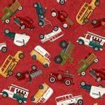 HG Papas Old Truck Truck Allover 9157-88 RED