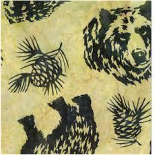Hoffman Bear and Pinecones Fern   N2908-220