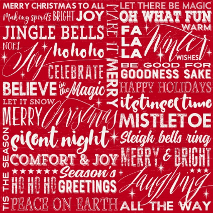 Holiday Wishes Words Red GLA-6925-88