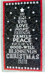 "Joy Christmas Wall Hanging 26"" x 45"""