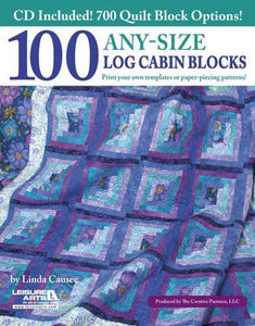 100 Any Size Log Cabin Blocks