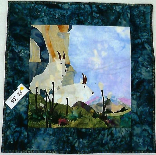 "Mountain Goat Wall Hanging 17"" x 17"""