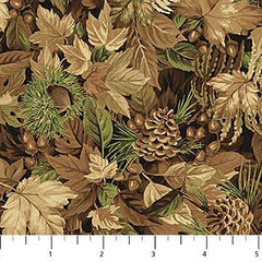 NF Algonquin Flannel Leaves F22552-34
